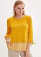 DeFacto Uzun Kollu T-shirt Sarı